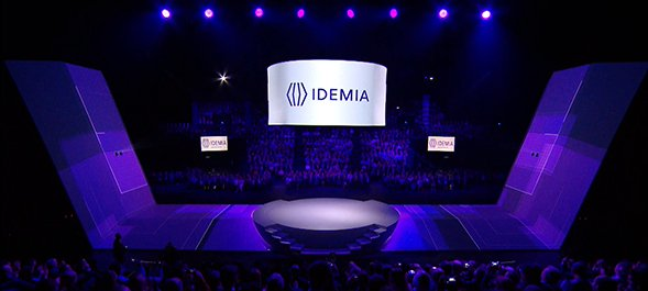 Video mapping decor for Idemia - Modulo Pi